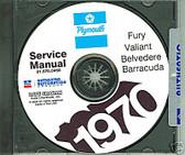 70 PLYMOUTH BARRACUDA/ROAD RUNNER SHOP/BODY MANUAL-CD