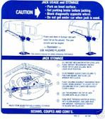 71 72 GTO/TEMPEST/LEMANS JACK INSTRUCTION DECAL