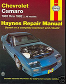 82 83 84 85 86 87 88 89 90 91 92 CAMARO SHOP MANUAL