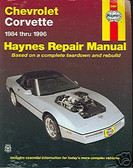 84 85 86 89 90 91 92 93 94 95 96 CORVETTE SHOP MANUAL