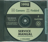 1998 CAMARO/FIREBIRD SHOP MANUALS  ON CD