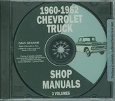 1960-62 CHEVROLET TRUCK FACTORY SHOP MANUAL ON CD