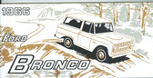 1966 FORD BRONCO OWNER'S MANUAL