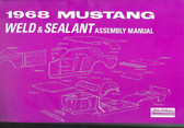 1968 MUSTANG SHEET METAL ASSEMBLY MANUAL