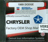 1969 69 DODGE CHARGER/CORONET/DART SHOP/BODY MANUAL ON CD