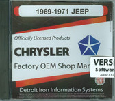 1969 70 71 JEEP SHOP/BODY MANUAL ON CD-COVERS ALL MODELS