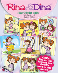 Rina and Dina 4 Pack Stickers Series #1