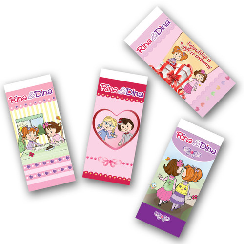 Packed in singles.  Available in 4 designs.   Each eraser is .79¢
