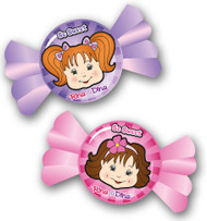 Rina and Dina Candy Face Erasers