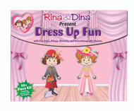 Rina and Dina Dress Up Fun Paper Dolls with Clingies