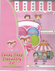 Rina and Dina Candy Shop Letter Writing Stationery Set