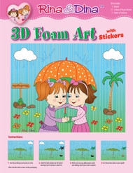 Rina and Dina 3D Umbrella Foam and Sticker