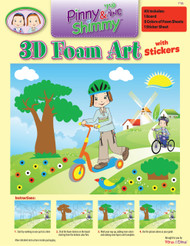 Pinny and Shimmy 3D Foam and Sticker Kit