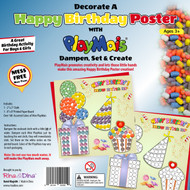 Decorate -A- Birthday Poster with Playmais