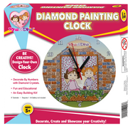 Rina and Dina Diamond Painting Clock