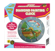 Modeh Ani Diamond Painting Clock with Glow in the Dark Handles & Numbers