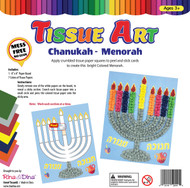 Chanukah Tissue Art Craft Kit/Menorah
