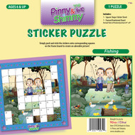 Pinny & Shimmy Fishing Sticker Puzzle