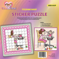 Rina and Dina Sticker Puzzle - Feeding Baby