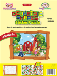 Geometric Shape Sticker Puzzle Farm