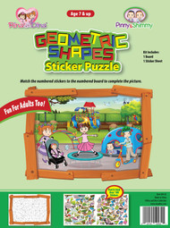 Geometric Sticker Puzzle Playground