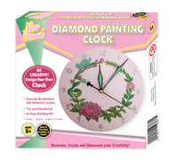 New Floral Diamond Painting Clock with Glow in the Dark Handles and Numbers
