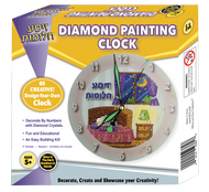 Zisa Chlomos Diamond Painting Clock with Glow in the Dark Handles and Numbers