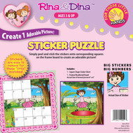 Rina and Dina Little Hand Sticker Puzzle (Trampoline)