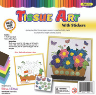 Tissue Art Flowers with Stickers