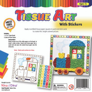 Tissue Art Aleoh Bais Train with Stickers