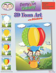Pinny and Shimmy 3D Foam and Sticker Kit/Parachute