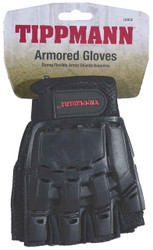 Tippmann 1/2 Fingered Armored Gloves Large
