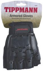 Tippmann 1/2 Fingered Armored Gloves Large