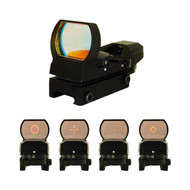 NcStar Tactical 4 Reticle Red/ Green Dot Sight Black D4RGB