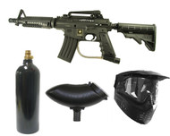 US ARMY Alpha Black Tactical Elite Tippmann Paintball Gun Set