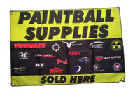"""Buy Paintball Supplies Here"" Banner"