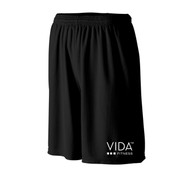 VIDA Men's 365 Black Wicking Mesh Short with POCKETS
