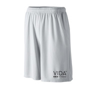 VIDA Men's Grey Wicking Mesh Short with POCKETS