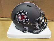South Carolina Gamecocks MATTE BLACK Riddell NCAA Replica Revolution SPEED Mini Helmet