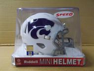 2019 Kansas State Wildcats White Riddell Speed Mini