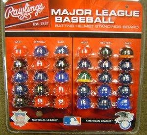 MLB RAWLINGS MICRO BATTING HELMET STANDINGS BOARD SET - GT