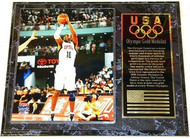 Kobe Bryant Team USA Olympic Games 15x12 Gold Medal Plaque
