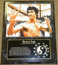 Bruce Lee Enter The Dragon 15x12 Movie Plaque