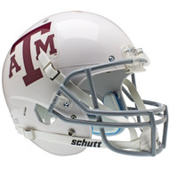 Texas A&M Aggies WHITE Schutt NCAA College Football Team Full Size Replica XP Helmet
