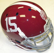 Alabama Crimson Tide #15 Champions Schutt NCAA College Football Team Full Size Authentic XP Helmet