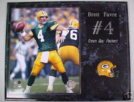 Brett Favre Green Bay Packers 15x12 Plaque