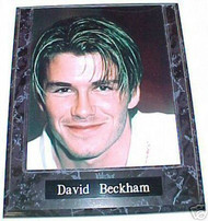 David Beckham Soccer 10.5x13 Plaque