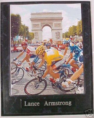 Lance Armstrong Tour De France Cycling 10.5x13 Plaque