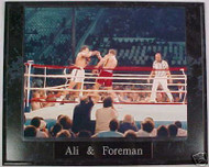 Muhammad Ali & George Foreman Boxing 10.5x13 Plaque