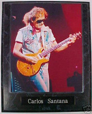 Carlos Santana Music Legend 10.5x13 Plaque